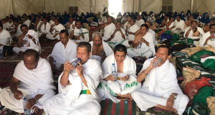 Gerakan Minum Air Bersama di Arafah