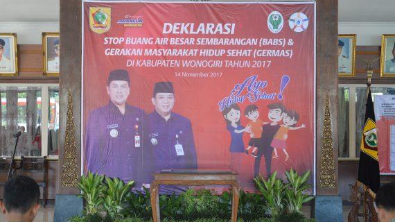 Deklarasi ODF dan Germas Kabupaten Wonogiri